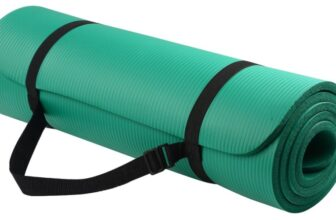 All Purpose Anti-Tear Exercise Yoga Mat with Carrying Strap