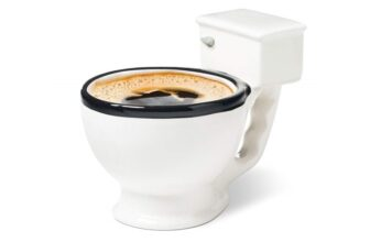 Ceramic Toilet Mug Funny Gift for Coffee Lovers