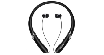 Bluetooth Headphones Neckband With Retractable Earbuds