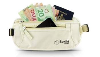 Boxiki Women's Travel Money Belt With RFID Blocking Material