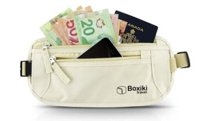 Boxiki Women's Travel Money Belt With RFID Blocking Material