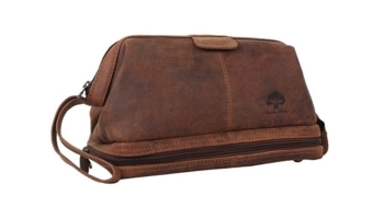 Handmade Buffalo Genuine Leather Toiletry Bag