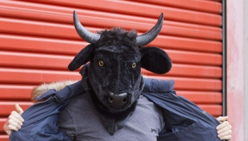 Thumbs Up Mouth Moving Bull Mask