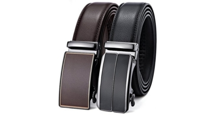Bulliant Formal Leather Ratchet Belt Set For Men In Gift Box