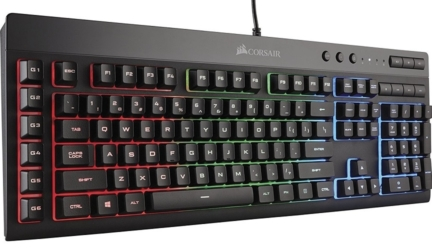CORSAIR K55 RGB Gaming Keyboard With LED Backlit Keys
