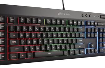CORSAIR K55 RGB Gaming Keyboard With LED Backlit Keys