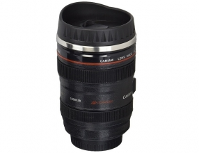 Camera Lens Travel Thermos With Stainless Steel Cup