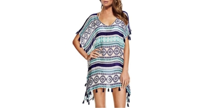 Chalier Womens Chiffon Swimsuit Cover Up