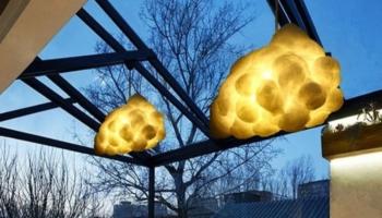 Art-inspired Cloud Chandelier