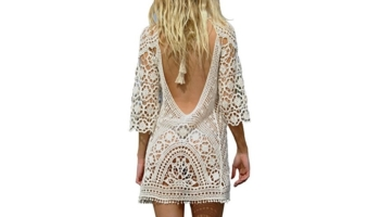 Women's Bathing Suit Cover Up Crochet Lace Bikini Swimsuit Dress