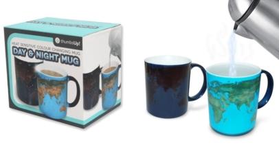 Day and Night Heat Sensitive Mug With World Map