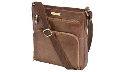 Handcrafted Tan Leather Women's Cross Body Sling Travel Handbag