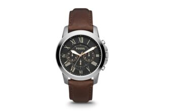 Fossil Grant Chronograph Brown Leather Watch For Men