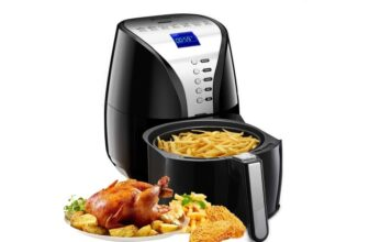 Oilless Air Fryer Cooker with Digital LCD Screen and Memory Function