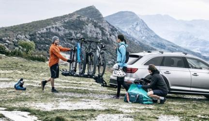 Premium Platform Hitch Bike Rack for 2-4 Bikes