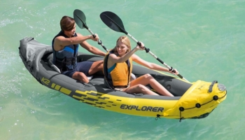 Intex Explorer K2 2-Person Sin-On Inflatable Kayak Set