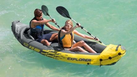 Intex Explorer K2 2-Person Sin-On Inflatable Kayak Set
