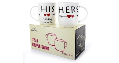 Janazala Funny His And Hers Coffee Mugs For Couples