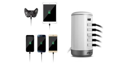 Jelly Comb Universal 6-Port Desktop USB Hub Charging Station