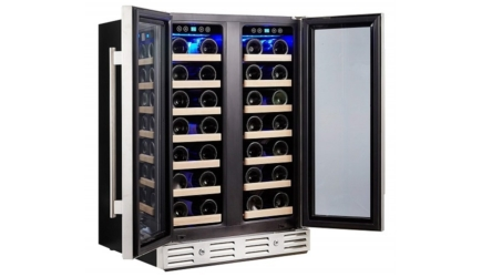 Kalamera 40-bottle Wine Cooler Refrigerator With Built-in Dual Zone