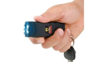 World's Smallest Keychain Stun Gun with LED Flashlight, 6 million Volts
