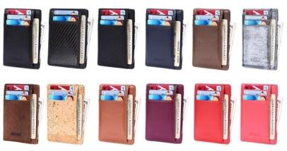 Kinzd Super Slim Genuine Leather Mens RFID Blocking Wallet