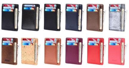 Kinzd Super Slim Genuine Leather Mens RFID Blocking Wallet