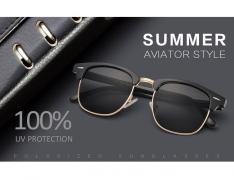LUENX Men Women Clubmaster Polarized Sunglasses
