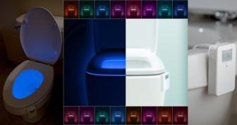 LumiLux Advanced 16-Color Motion Sensor LED Toilet Bowl Night Light