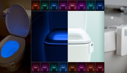 LumiLux Advanced 16-Color Motion Sensor LED Toilet Bowl Night Light