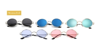 Menton Ezil Mens Round Polarized Circle Sunglasses