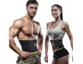OMorc Adjustable Waist Trimmer Ab Belt for Men and Women
