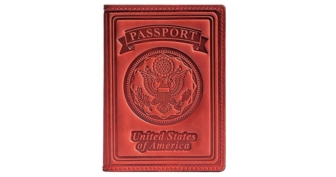 Villini 100% Leather US Passport Holder Cover Case