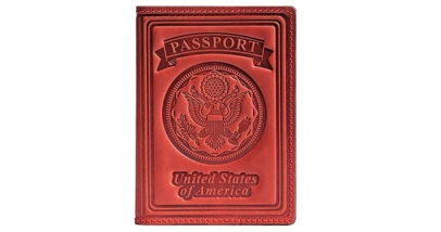 Villini 100% Leather US Passport Holder Cover Case