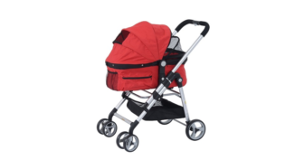 PawHut Four Wheel Pet Travel Stroller for Dog and Cat