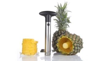 Silver Stainless Steel Pineapple De-Corer and Peeler
