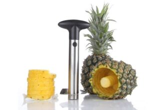 Silver Stainless Steel Pineapple De-Corer and Peeler