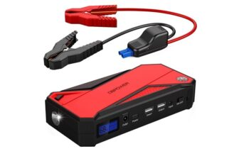 Portable Car Jump Starter with Smart Charging Port and Flashlight