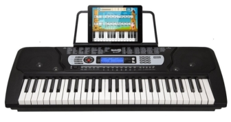 RockJam 54-Key Portable Electronic Keyboard with Interactive LCD Screen