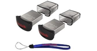 SanDisk 2-Pack Ultra Fit 128GB USB 3.0 Travel Flash Drive