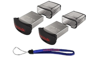 SanDisk 2-Pack Ultra Fit 128GB USB 3.0 Travel Flash Drive