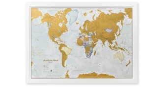 Scratch The World – Map Of The World Travel Poster