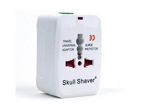 Skull Shaver Universal World Wide Travel Plug Adapter