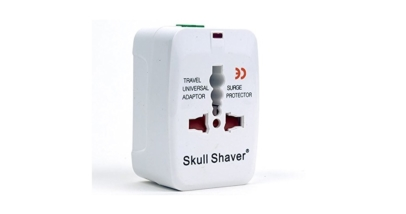 Skull Shaver Universal World Wide Travel Plug Adapter