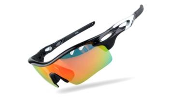 Umbrella Sports Men Sunglasses with 3 Changeable REVO Lenses