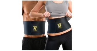 Veluxio Premium Waist Trimmer Ab Belt with Lumbar Support