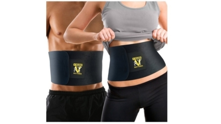 Veluxio Premium Waist Trimmer Ab Belt with Lumbar Support