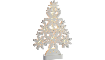 Pre-Lit Snowflake Wooden Christmas Tree
