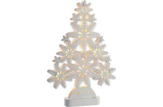 Pre-Lit Snowflake Wooden Christmas Tree
