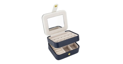 Zmart Portable Travel Jewelry Box Organizer
